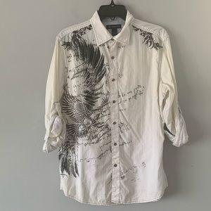 INC International Concept Button Down Shirt Size M